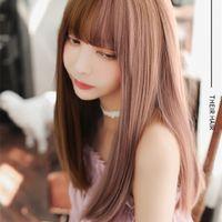 (DM-WIG20) Harz Japan Anime Kigurumi Cosplay Maske Lolita Crossdressing BJD Masken 'Cosplay Perücke T200509
