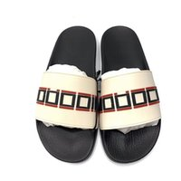 Designer Unisex Slides Gomma Pantofole in gomma A strisce Uomini Flip Flops Luxury Slide Summer Fashion Wide Slippery Slipper Slipper Slipper con scatola