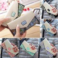 Damen Damenumschlag Leder Brieftasche Kartenknopf Kupplung Geldbörse Lange Handtasche