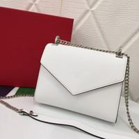 Hohe Qualität Luxus Designer Tasche Echtes Leder Designer Wallet Womens Handtasche Geldbörsen Mode Retro Abend Crossbody Goldene Kette Taschen Umhängetaschen