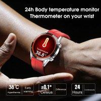 Montres Smart Montres T03 Moniteur de température continue 24 Heures IP68 ECG PPG BP Récompense cardiaque Fitness Tracker Sports SmartWatch vs L13