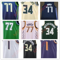 2021 New Luka Giannis 34 Devin AntetokounMPO 77 Doncic 1 Booker City Basketball Jersey