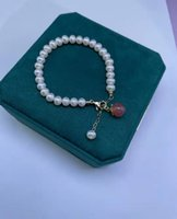 Natural 6-7mm white freshwater pearl honey peach agate accessories golden clasp extended chain bracelet long 16+4cm