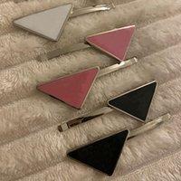 Metall Dreieck Hair Clip mit Stempel Party Geschenke Frauen Mädchen Brief Barrettes Mode Haare Zubehör XHH21-392
