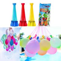 1 adet = 3 ışınlar = 111balloon renkli su dolu balonlar demet şaşırtıcı sihirli su balon bomba oyuncak dolu su balon oyunları çocuklar