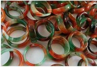 A large number of wholesale agate colorful ring manufacturers free del ivery A1