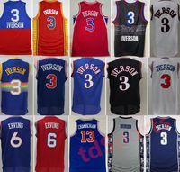 Georgetown Hoyas College Allen Iverson Jerseys 3 Männer Basketball Dr. Julius Ernt 6 Wilt Chamberlain 13 Blau Schwarz Weiß Rot Gute Qualität