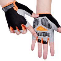 Велосипедные перчатки против скольжения противоскользящие мужчины женщины половина пальца дышащая анти-спортивный велосипед велосипедная перчатка