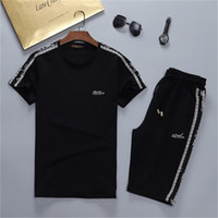 2021 Hot High Quality Moda Summer Summer Sportswear Camisetas de manga corta Trajes de jogging Traje de los hombres Traje corto Ropa deportiva