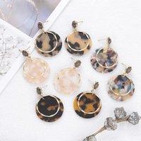 Neue Tortoiseshell Brincos Acetat Acryl Geometrie Runde Tropfenohrring Für Frauen Marmor Leopard Legierung Ohrring übertrieben Schmuck