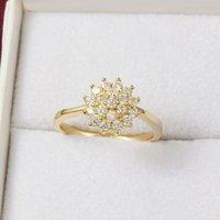 14K 옐로우 골드 1.5 캐럿 여성용 다이아몬드 반지 럭셔리 약혼 Bizuteria Anillos 보석 웨딩 쥬얼리 선물