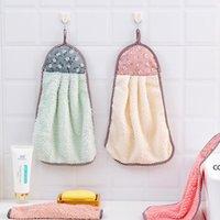 Mão macia de frutas mão limpeza toalha toalhas de suspensão de toalhas absorventes pano de pano sem fiapos acessórios de cozinha DHF8545