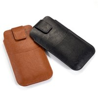 Universal PU Pouch Cases for iPhone Samsung Moto LG Nokia Sony Google Card Holder Slim Leather Wallet Belt Cell Phone Covers Fundas