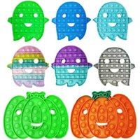 Fidget toy Halloween Decompression Sensory Bubbles Push Simple Bubble Finger Toys Ghost Bat Stress Relief Interactive Game