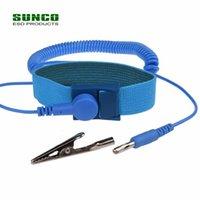 Blue Color OSD браслет антистатический запястье ремешком с 6-футовым шнуром заземления и банановой штекерки крокодиловый клип