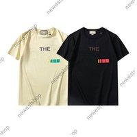 2021 Mens Designer Tshirt di lusso Estate Donne T Shirt Classic Gold Letter Block Printing Casual Cotton T Shirt T-Tops