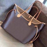 Mulheres bolsa bolsas de ombro sacos de compras bolsas clássicas bolsa marrom data código serial número verificador tote grade flor 07