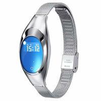 Z18 Frauen Smart Armband Armbänder Blut Sauerstoff Herzfrequenz Anruf Erinnerung Luxus Mode Weibliche Fitness Tracker Armband Armbanduhr