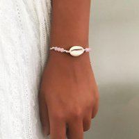 Link, Chain Boho Multi Conch Anklet White Shell Beaded Ankle Bracelet Barefoot Beach Foot Jewelry For Women And Girls
