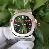 PPF 5711 / 1A-014 5711 40 мм Водонепроницаемые наручные часы Мужчины Часы Нержавеющая сталь 904L Зеленый циферблат Cal.324 S C Перемещение Прозрачные автоматические механические мужские часы