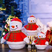 Christmas Ornament plush snowman Doll with cap scarf Xmas Tree Wall Hanging Pendant Accessories Holiday Decor Gift Trees Decorations