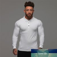 New Brand Men' s Solid Long Sleeve Shirt Men Autumn Full...