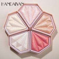 DHL Handaiyan 5 색상 형광펜 팔레트 메이크업 얼굴 컨투어 파우더 Bronzer 블러셔 전문 밝은 팔레트 화장품을 확인합니다.