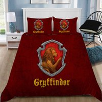 Cartoon School of Witchcraft and Hocus-pocus Printing 3d Bedding Printed Blankets Set Queen Twin Size