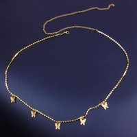 Rhinetone sexy cadena de cuerpo mariposa cadena de la cadena de la cadena de la cadena