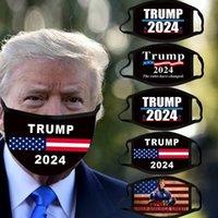 Trump 2024 Mascarilla de cara Elección presidencial Maga Masdas de algodón Joe Biden Lavable Transpirable Black Color letras Imprimir Adulto Facenas H38U28Q