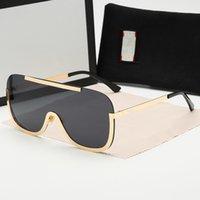 الذهب الأسود الطيار النظارات الشمسية رمادي الأزرق مظللة عدسة نظارات الشمس gafas دي سول رجل ظلال مع مربع