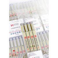 Pigment Liner Micron Pen Neelde escova macia desenho Pen lote 005 01 02 03 04 05 08 1.0 pincel marcadores de arte f jllvvj