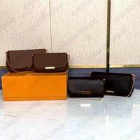 Damier Ebene المفضلة MM M40718 مقبض حقيبة monograms عارضة نمط قماش crossbody مصغرة سلسلة حقائب الكتف مصمم محفظة محافظ N41275