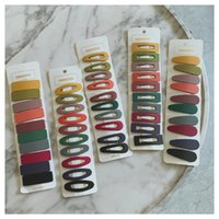 10Pcs=1Set Scrub Designer Girl Acrylic Multicolor Duck clip Hairpin Hairclips Hair Clip Pin Comb Barrette Women Wedding Accessories