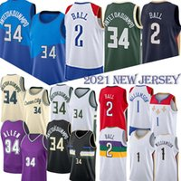 Giannis 34 AntetokounMPO nba Basketball-Trikots Lonzo 2 Ball Zion 1 Williamson 34 Allen NCAA Basketball Jersey