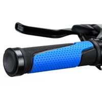 Bike Handlebars &Components Wear-resistant 2Pcs Set Practical Rubber Non-slip Cycling Handle Grips Lightweight Multi-purpose For