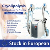 Spain In Stock 2 Cryo Handles Work At Same Time Cavitation Rf Equipment Cryotherapy Vacuum Cellulite Reduction Lipolaser Slimming Weight Ce