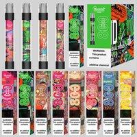 Original Monster Shine Dispositivo Misurabile Kit Pod Kit E-sigarette 800 sbuffi 550mAh Batteria da 550mAh 3.0ml Cartuccia di cartuccia prerientata Pods Flash Light VS Bar Plus XXL Hot 100% Autentico