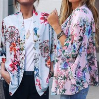 Camicette da donna Camicie Blast 2021 Summer Fashion Print Suit Collar COLLARE CAMBIA MEDIA BLOFE CHIFFON SHIFFON PLUS DONNE DONNE Streetwear ONY017