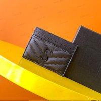 2021 Sac de carte bancaire de carte de crédit de concepteur de luxe Unisexe Mince Mode Mayine Porte-monnaie