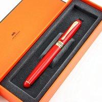 Jinhao x750 neue rot- und goldclip 1,0 mm gekrümmte spitze kalligraphie stift hohe qualität metall brunnen stift weihnachtsgeschenkstifte