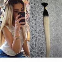 8A 학년 Tresse 크로 셰 뜨개질 끈 인간 100g 인간의 머리카락 대량 1 PCS T1B 613 Ombre 인간의 머리카락 브라질 꼰 머리 대량 벌크 없음