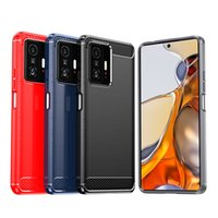 TPU phone cases for Xiaomi 11T pro Soft Brushed shockproof Rugged Shield moblie Cover