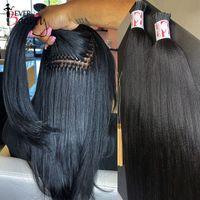 Coarse Yaki Straight Microlinks 100% Hu Virgin Weave Bundl Brazilian I Tip Hair Extensions Ever Beauty