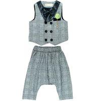 Clothing Sets Baby Boy Spring Autumn Infant Born Clothes Bebes Tracksuits Plaid Vest+pants 2pcs Outfits For Boys