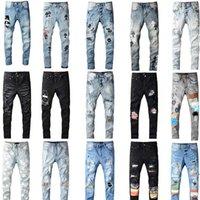 2021 Top designeurs de haute qualité Mens Jeans Rock Motocycle de luxe Denim Jean Hommes Fashion Streetwear Biker Man Hip Hop Pantalon Pantalons