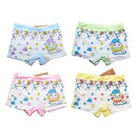 Panties 4 Pieces   Pack Wholesale Modal Girls Cartoon Designs Underwears Children Cotton Short Pants Kids