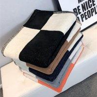 Blankets Plaid H Cashmere Blanket Crochet Soft Wool Scarf Shawl Portable Warm Sofa Bed Fleece Knitted Throw Cape Brand 140x170cm