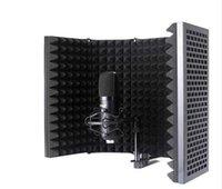 Складной микрофон Изоляция Shield Mic Sound Поглощающая пена для фильтра Вокальный Микрофон Экран Ветро