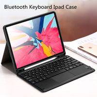 لمس وظيفة بلوتوث حالات لوحة المفاتيح ل iPad Air4 10.9 غطاء واقي برو 11 12.9 بوصة قرص القلم فتحة